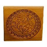 Cortador de galletas - sello de galletas de rosa de Provenza, molde de madera para hornear galletas de jengibre 3D, moldes de sello de prensa de galletas, para galletas y Priyanka