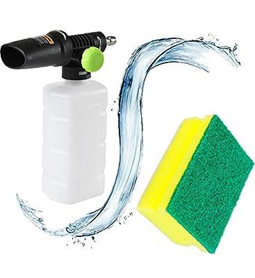"""Pressure Washer Foam Cannon ,Snow Foam Lance Soap Gun Nozzle Car Foam Wash Shampoo Soap Sprayer with 1/4"""" Quick Connector Plug"""
