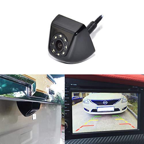 DishyKooker Reverse Camera Video Car Light Univeral Metal mic Trajectory Parking System Car Rear View Camera Backup LED Lights Night Vision