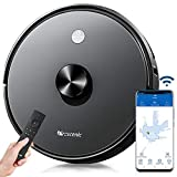 Proscenic 2-in-1 Robotic Vacuum Cleaner and Mop 2700 PA Strong Suction Robot Vacuum Cleaner with Self-Charging Works with APP & Alexa Control, Good for Pet Hairs, Carpets, Hard Floor