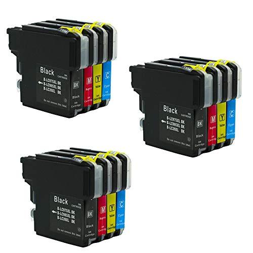 THQC Cartucho de Tinta LC985 LC975 LC39 Impresora Compatible for el Hermano Fit DCP385C DCP-J125 DCP-J315W MFC-J415W MFC-J410 MFC-J700DW J700D (Color : 2BK 2CYM)