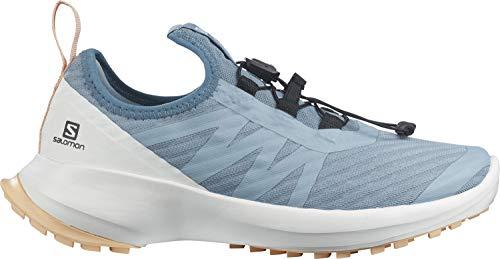 Salomon Sense Flow J, Zapatillas De Trail Running Y Outdoor Actividades, Azul Claro/Blanco (Ashley Blue/White/Almond Cream), 38 EU