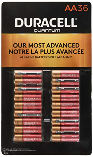 Duracell Quantum AA Alkaline Batteries - Long Lasting, All-Purpose Double A Battery for Household and Business - 36 Count