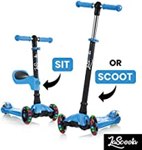 Scooter for Kids Scooters 3 Wheeled Scooter 3 Wheel Scooter for Kids Ages 2-12 (Blue - Packaging May Vary)