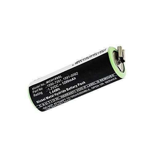 subtel® Batería Premium Compatible con Moser ChroMini 1591 / Ermila Bella 1590, 1590-7291, 1591-0062, 1591-0067 1200mAh Pila Repuesto bateria