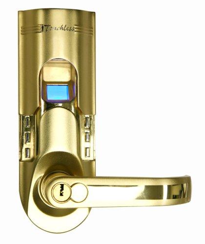 iTouchless Bio-Matic Fingerprint Door Lock, Right Handle, Gold