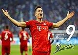 Robert Lewandowski #3 A3 laminiert signiert Motivation