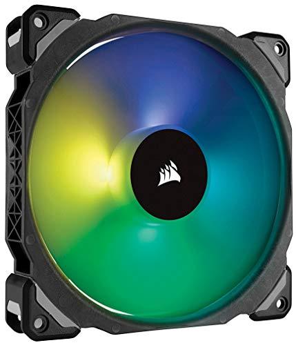 Corsair ML140 PRO RGB LED 140 mm PC-Gehäuselüfter (mit Magnetschwebetechnik, PWM, ohne Lighting Node/ohne Hub, Single Pack) Schwarz