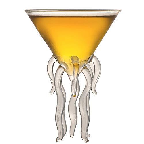 Copa de Vino con Forma de octopos Creativa con Forma de octopos con Forma de octopos Copa de Vidrio de Vidrio de Vino de Vino Personalidad de Vino de Copa de Vino de Copa de Vino,130ml