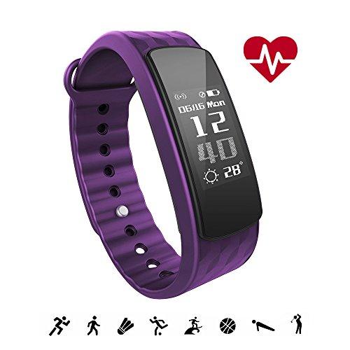 iWOWNfit Pulsera Actividad Inteligente, Impermeable IP67 para Natación, Monitor de Actividad Sueño Ritmo Cardiaco Pasos Calorías Notificación, Control Cámara, Pulsómetro Reloj, Fitness Tracker