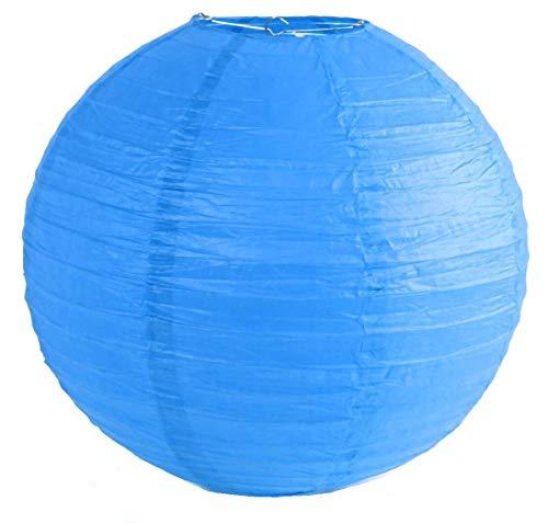 Matissa Farolillos redondos de papel de 4 pulgadas, 6 pulgadas, 8 pulgadas, 10 pulgadas, 12 pulgadas, 14 pulgadas, 16 pulgadas, para boda, fiesta de cumpleaños (35 cm), color azul
