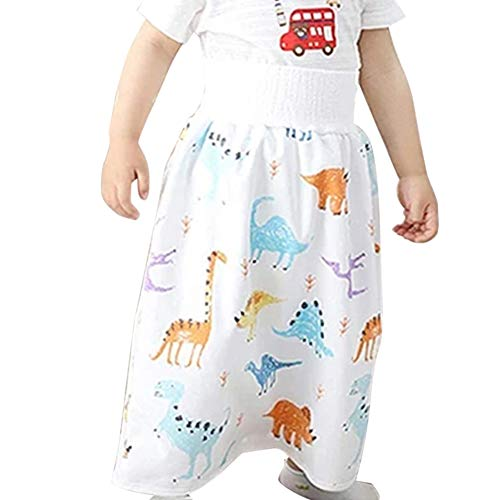Asseny Comfy Childrens Diaper Skirt Shorts 2 in 1 Waterproof and Absorbent Shorts for Baby Toddler