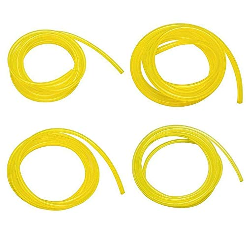 "SaferCCTV(TM)4pcs Fuel Gas Line Hose Tube - 4 Sizes 6 Feet I.D x O.D: 0.08"" x 0.14"" 1/8"" x 3/16"" 1/8"" x 1/4"" 3/32"" x 3/16"" for Ryobi ry30530 ry26520 ry52014 Homelite Poulan Craftman Chainsaw Weedeater"