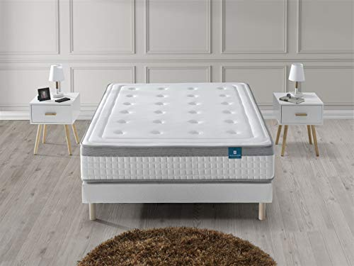 DAGOSTINO HOME BOUTIQUE COLLECTION Materasso Hannover Memory Foam & Lattice 90x190x25 cm. Alta resilienza e Recupero, Supporto Perfetto, Gamma Prestige, Reversibile, Alto 25 cm +/- 3 cm.