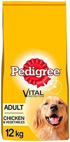 Pedigree Adult Dog Dry Food with Chicken and Vegetables, 12 kg product image