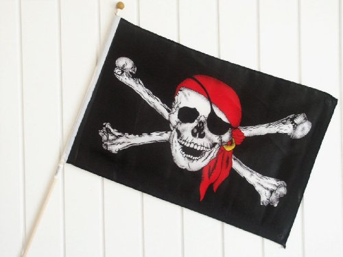 Stockflagge Piratenflagge Piraten Pirates