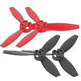 VGEBY RC Airplane Propeller 4pcs RC Propeller Accesorio Modificado Reemplazo de Accesorio para Bebop 2 Drone(Negro y Rojo)