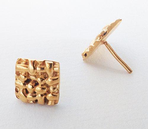 CESTERIA IA: Handgemachte Ohrstecker - Messing vergoldet