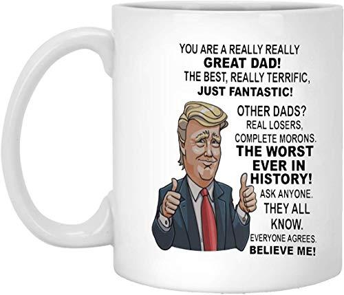 N\A Donald Trump Mug For Dad from Daughter Mug Padrastro Regalo del Día del Padre, Presidente Trump Boss Mug Regalo del suegro GrandpaMug