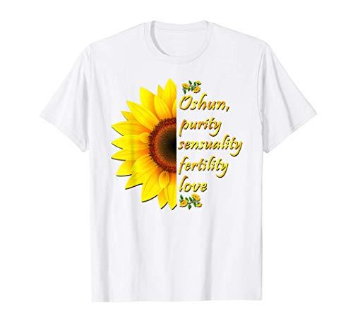 Oshun Orishas Goddess Oxum Ifa Yoruba Religion Gift T-Shirt T-Shirt