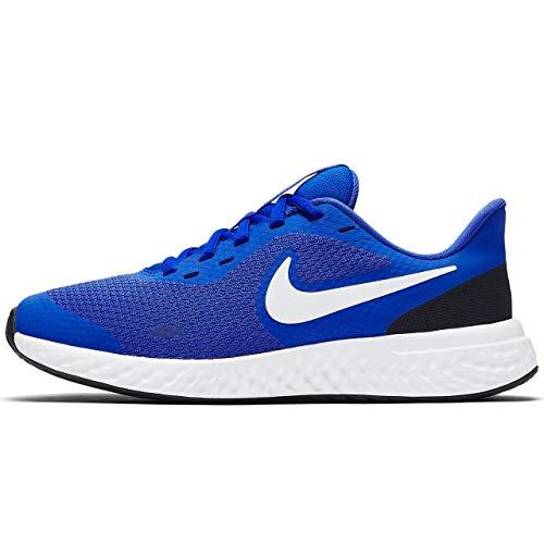 Nike Revolution 5 (GS), Scarpe da Corsa Unisex-Bambini, Multicolore (Racer Blue/White/Black 401), 39 EU