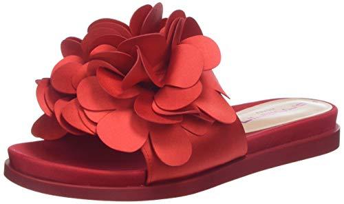Fornarina Damen Flower1 Peeptoe Sandalen, Rot (Rosso), 37 EU