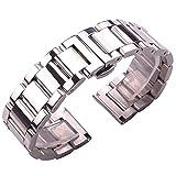 Cinturino per orologio alla moda Cinturino in acciaio inossidabile massiccio 316L Argento 18mm 20mm 21mm 22mm 23mm 24mm Cinturino per cinturino in metallo Cinturino per orologi da polso (Colore :