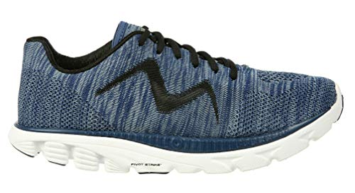 MBT Men's Speed Mix Rocker Bottom Low Level Cushioned Running Shoe Grey Blue/Grey Size 14