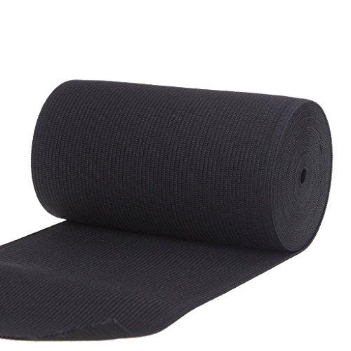 QT Heavy Stretch Knit Sewing Elastic (6-Inch, 2-Yards, Black)