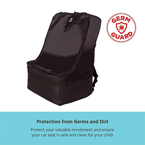 J.L. Childress Ultimate Backpack Padded Car Seat Travel Bag - Durable, Secure, Universal Airport Bag, Black