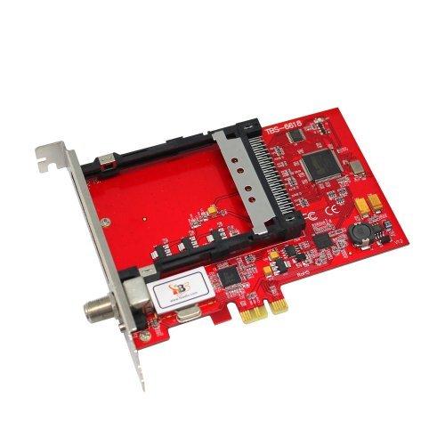 TBS6618 PCI Express DVB-C HD Kabel TV Tuner Card met CI Slot - Watch, Pauze & Record Digitale Kabel/Betaal TV op Uw PC Compatibel met Linux en Window System