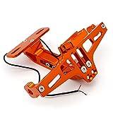 Portamatriculas Soporte De Montaje Placa Matrícula Trasera Motocicleta para Y&AMAHA para Xj6 Xj600 para Xjr400 Xjr1200 para Xjr1300 para Xm&AX 125 250 300 Soporte Matrícula (Color : F)