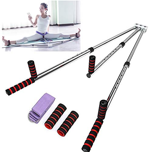 Yi Xuan 3 Bar Leg Stretcher Heavy Duty Gymnastic Portable Flexibility Stretching Machine Stretch Strength Training Leg Machines Yoga Exercise Gym