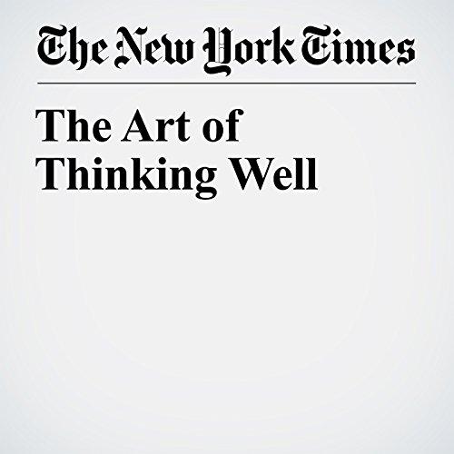 The Art of Thinking Well copertina