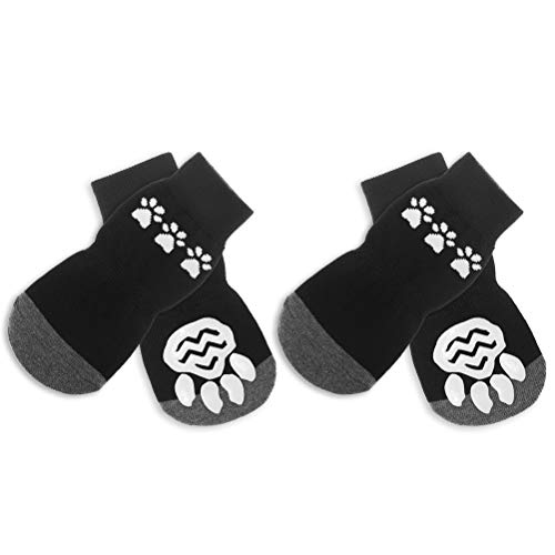 BINGPET Anti Slip Dog Socks for Large Dogs, Hardwood Floors Pet Paw Protectors with Grips