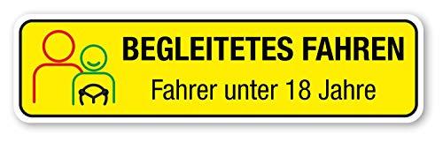Magnetschild Begleitetes Fahren | BF-17 | 30 x 8 cm lieferbar, Einfarbig schwarz:Farbig