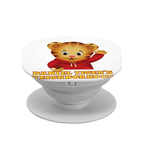 Daniel Tiger's Neighborhood Cell Phone Foldable Expanding Stand Holder Phone Round Stand and Grip Folding Pop Up Back Stand Universal Phone Mount,Collapsible Grip & Stand for Phones and Tablets