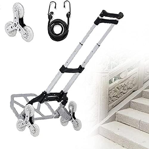Klettern Treppen Tragbare Wagen-Faltwagen mit Edelstahl-Kristallscheiben einziehbarer Griff Easy-Treppen zum Einkauf / Picknick / Familienschutz blau-Schwarz