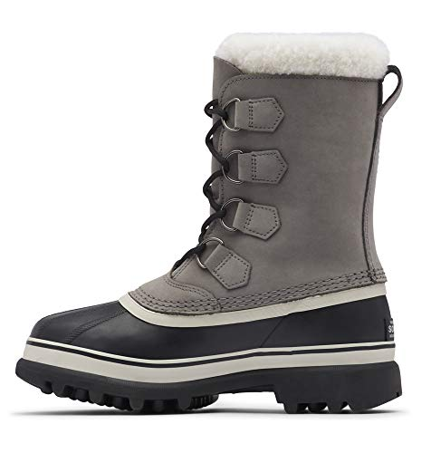Sorel Women's Caribou Boot - Light Rain and Heavy Snow - Waterproof - Shale, Stone - Size 8.5