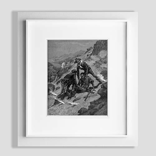 Foto: Soldados, sudoeste, rescate, corporal Scott, los afroamericanos, nuevo, Remington, 1886. Tamaño