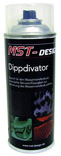 MST-DESIGN Aktivator/Dippdivator für Wassertransferdruck Folie I 400 ml Spraydose I Für Wassertransferdruck I Aktivatorflüssigkeit für handelsübliche Wassertransferdruckfilme