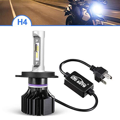 CZC AUTO H4 9003 HB2 Motocycle LED Headlight Bulbs High Beam Low Beam Quick Install LED Headlamps 6000K Bright White H4 LED Bulb, Waterproof 9003 Led Headlight 10000LM Super Bright HB2 LED Headlights
