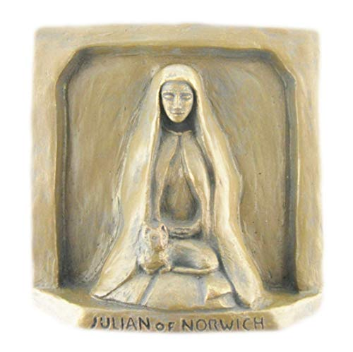 Julian of Norwich, Patron of Cats,'All Shall Be Well,' Handmade Statue