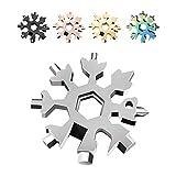 Saker 18-in-1 Edelstahl Schneeflocken Multifunktionswerkzeug Silber