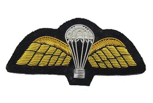 Paracaídas alas bordado mano parche insignia fuerza aérea uniforme militar R1810