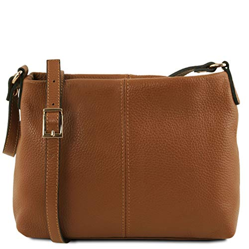 Tuscany Leather TLBag Borsa a tracolla in pelle morbida Cognac