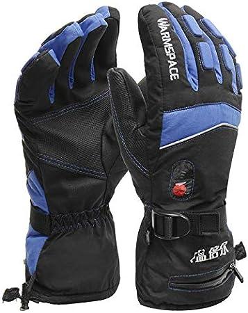 A1 XM Dgtyui Guantes calefactables a Prueba de Agua con bater/ía para Ciclismo de Motocicleta Guantes de esqu/í Guantes de Invierno para Motores m/ás c/álidos
