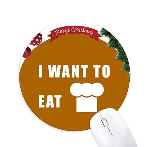 Essen Sie Kuchen Wunsch Leben rund um Gummi Maus Pad Weihnachtsbaum Mat