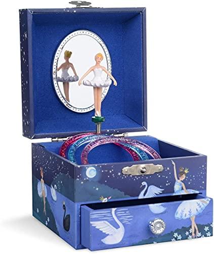 Recet Joyero musical, algodón de azúcar, diseño de unicornio, regalo de cumpleaños infantil, para niñas, con música (azul brillante)