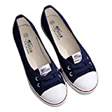 Ladies Moccasin Shoes Leisure Casual Flats Lace-Up Shallow Shoes Canvas Soft Sole Slip-On Loafers Shoes